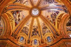 Vitral San Francisco el Grande Royal Basilica Madrid de la bóveda Foto de archivo libre de regalías