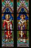 Vitral - St Clement y santo Leo Fotografía de archivo