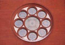 Vitral uma igreja Católica Fotos de Stock Royalty Free