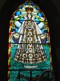 Vitral van Virgen del Valle chuch, Margarita Island Stock Foto