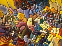Vitral virtual Imagen de archivo libre de regalías