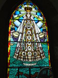 Vitral von Virgen del Valle chuch, Margarita-Insel Stockfoto