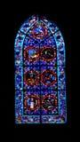 Vitrales en la abadía de Fontfroide Imagen de archivo libre de regalías