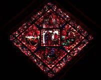 Vitrales en la abadía de Fontfroide Imagenes de archivo