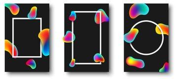 Vitramar med färg tappar på svart bakgrund royaltyfri illustrationer