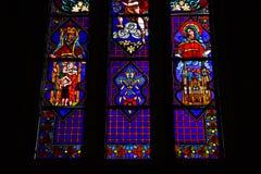 Vitraux colorido Catedral de La Plata fotos de archivo