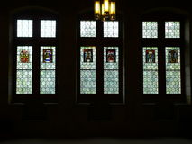 Vitraux, Rathaus, Bern ( Schweiz ). Stained glass inside of town hall (Rathaus) of Bern, build in gothic style Stock Image