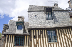 Vitre, Bretaña Foto de archivo libre de regalías
