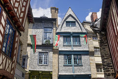 Vitre Brittany. Vitre, (Ille-et-Vilaine, Brittany, France) - Old half-timbered houses, exterior Royalty Free Stock Photos