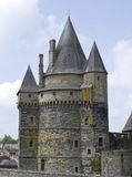 Vitre. The castle of Vitre in Brittany, France Stock Photo
