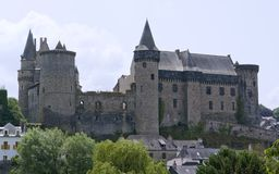 Vitre. The castle of Vitre in Brittany, France Royalty Free Stock Photo