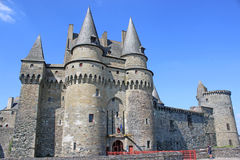 Vitre castle, France Royalty Free Stock Images