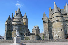 Vitre castle, France. Exterior of Vitre Castle in Brittany Stock Photography
