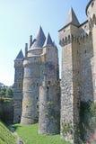 Vitre castle, France. Exterior walls of Vitre Castle Stock Photography