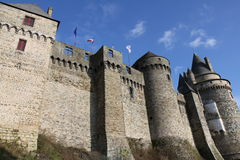 Vitre Castle. In France on a sunny day with a few clouds Royalty Free Stock Photos