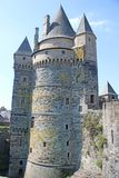 Vitre Castle, France. Towers of Vitre Castle in Brittany, France Royalty Free Stock Photos