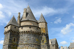 Vitre castle. Scenic view of Vitre castle win France Royalty Free Stock Photography