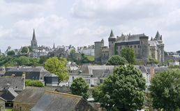 Vitre. City view of Vitre in Brittany, France Stock Image