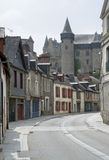 Vitre. City view of Vitre in Brittany, France Royalty Free Stock Image