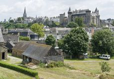 Vitre. City view of Vitre in Brittany, France Royalty Free Stock Photos