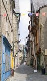 Vitre. City view of Vitre in Brittany, France Stock Photo