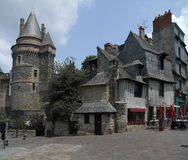 Vitre. City view of Vitre in Brittany, France Royalty Free Stock Photo