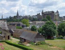 Vitre. City view of Vitre in Brittany, France Royalty Free Stock Images