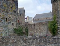 Vitre. Detail of the castle of Vitre in Brittany, France Stock Images