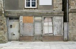 Vitre. Historic rundown house facade seen in Vitre (Brittany, France Stock Photography