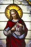 Vitreaux de Jesus Christ Imagens de Stock Royalty Free