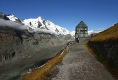 Vitreous building and Grossglockner Royalty Free Stock Image