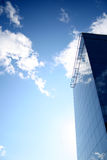 A vitreous building in the sky. Vitreous building in blue sky Royalty Free Stock Images