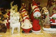 Vitrine van Kerstmisdecoratie Stock Afbeeldingen