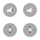 The in vitro blood plasma and its components Stock Image