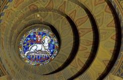 Vitro circular Imagen de archivo