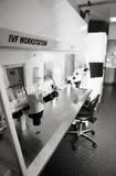 In-vitrolaborarbeitsplatz Stockfotos