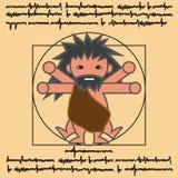 Vitruvian antyczny mężczyzna Zdjęcie Royalty Free