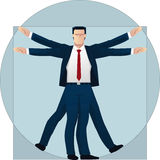 Vitruvian businessman Stock Image