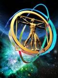 Vitruvian mężczyzna Fotografia Royalty Free