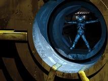 Vitruvian mężczyzna w przestrzeni Zdjęcie Stock