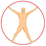 Vitruvian man Stock Photos