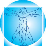 Vitruvian man Royalty Free Stock Images