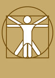 Vitruvian Man_b5 Royalty Free Stock Photo