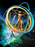 The vitruvian man Royalty Free Stock Photography