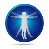 Vitruvian man icon Royalty Free Stock Image