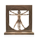 Vitruvian man. Of Leonardo Da Vinci stock photography