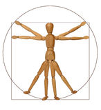 Vitruvian Man (A Modern Rendition). Modern graphical rendition of the Vitruvian man royalty free stock photos