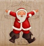 Vitruvian Papá Noel Foto de archivo libre de regalías
