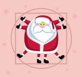 Vitruvian Santa Stock Photography