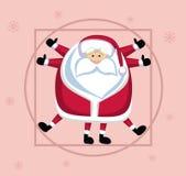 Vitruvian Santa Fotografia de Stock